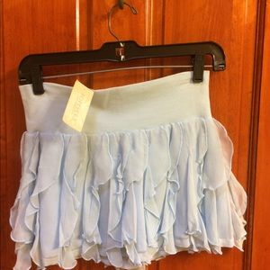 Dresses & Skirts - Silk blue mini skirt